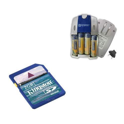 Kodak C533 Digital Camera Accessory Kit includes: KSD2GB Memory Card, SB251 Charger