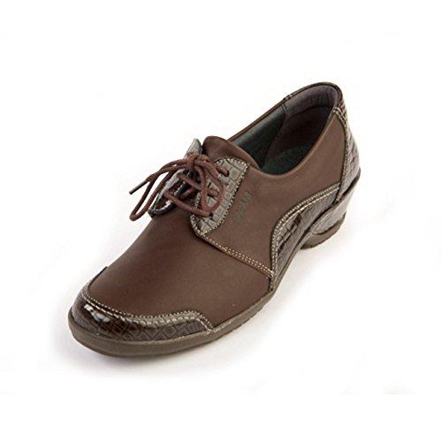 croc Pour À Lacets Femme Ville Brown Suave De Chaussures wqHXtxF87