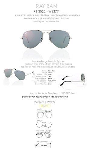 Ray Ban Rb3025 Womens Aviator Sunglasses - Crystal Grey Mirror - Female Ban Aviator Ray
