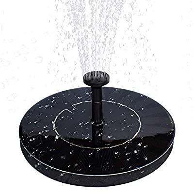 MADETEC Solar Water Fountain Pump with Battery Backup?1.5W Upgraded Submersible Solar Pond Fountain Panel Kit for Bird Bath,Small Pond,Garden and Lawn