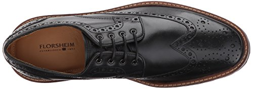Florsheim Mens Estabrook Wingtip Lace Up Oxford Dress Scarpa Casual Nera
