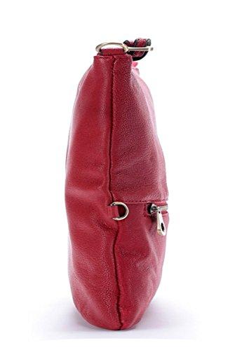 La Poet - Bolso cruzados para mujer rojo granate granate