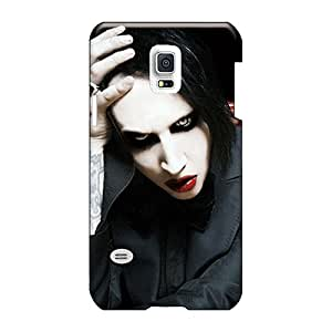 JohnPrimeauMaurice Samsung Galaxy S5 Mini Shock-Absorbing Hard Phone Case Unique Design High-definition Marilyn Manson Pattern [OYB2616IcXB]