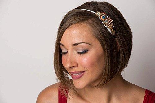 Christmas Headband - Adult Headband - Vintage Jewelry - Emerald Wedding - Bridal Headband - Christmas Gift for Women