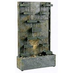 Kenroy Homes 50375SL Watercross Outdoor Floor Fountain, Natural Slate