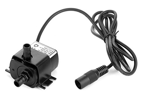 12v Dc Small Water Pump, 63 GPH Mini Submersible Pump for Small Water Fountain, Water fall, Aquarium, Pet drinking System, irrigation system and other Water circulation applications [Upgraded Version]