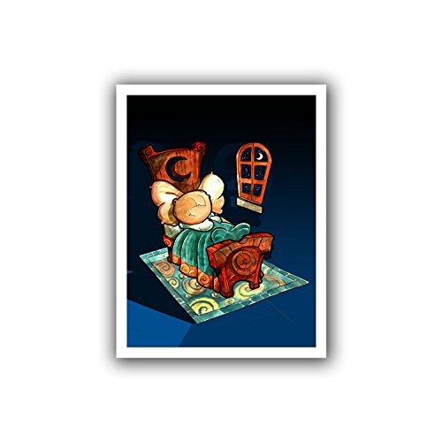 ArtWall Luis Peres 'Kids in Bed 1' Unwrapped Canvas, 18 by 22-Inch, Holds 14 by 18-Inch Image from ArtWall