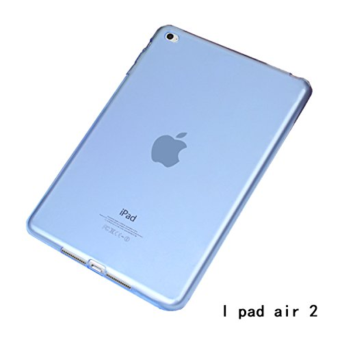 Apple iPad Air 2 Case, iCoverCase Ultra-thin Gel Silicone Back Cover Clear Plain Soft TPU Gel Rubber Skin Case Protector Shell for Apple iPad Air 2 / iPad 6 (9.7