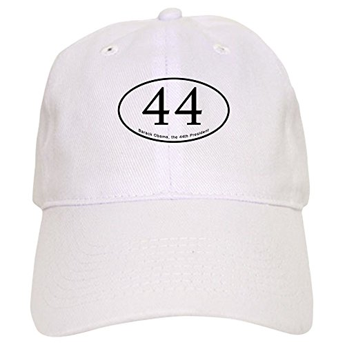CafePress Barack Obama, 44Th President Baseball Cap with Adjustable Closure, Unique Printed Baseball Hat White
