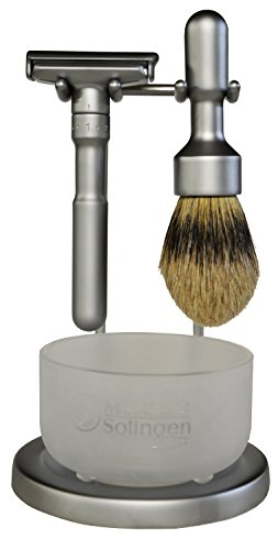 Merkur Futur 4 Piece Shaving Set- Satin Finish-#750- Made in Germany by Merkur