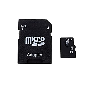 Eachbid Tf 2GB Micro SD Card with SD Card Adapter+ Mini Rotary Card Reader Random Color