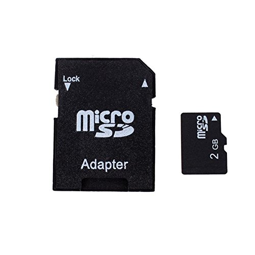 Eachbid Tf 2GB Micro SD Card with SD Card Adapter+ Mini Rotary Card Reader Random Color