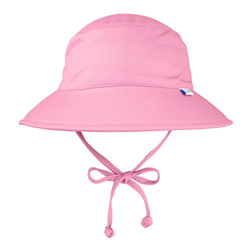 - i play. Kids' Baby Girls Breatheasy Bucket Sun Protection Hat, Light Pink, 0/6mo