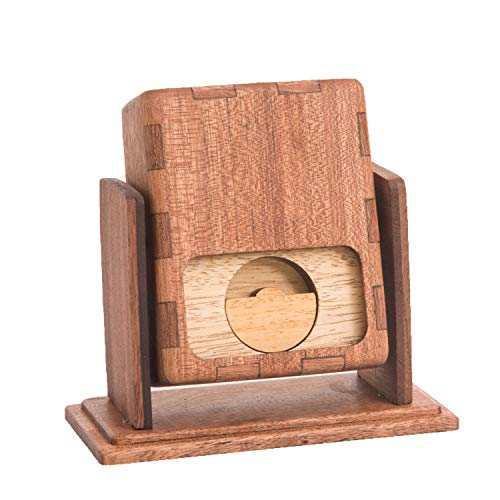 Ling's moment Unique Engagement Ring Box with DIY Words Wood Proposal Ideas for Her Will You Marry Me Gift for Valentine's Day ()
