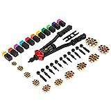 """16"""" Hand Rivet Nut Tool, Professional Rivet Nut Setter Kit with 11PCS Metric & Inch Mandrels,110PCS Rivet Nuts"""