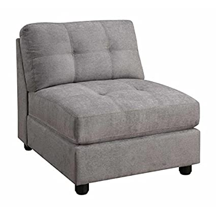 Amazon Com Natural Greige Tufted Accent Chair In Gray Kitchen Dining
