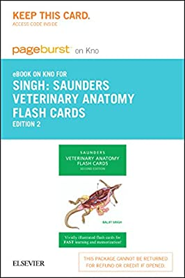 Veterinary Anatomy Flash Cards -- Elsevier eBook on Intel Education Study (Retail Access Card), 2e