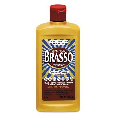 Brasso Multi-Purpose Metal Polish 8 oz Bottle (2 Pack)