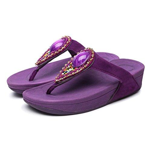 In Donna Sandalo Cristallo Infradito purple Spiaggia Da Donna Sandalo Da Da Owd6qg