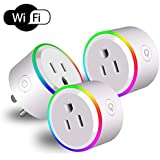 Zenic Wifi Smart Plug, Smart Socket Outlets Compatible with Alexa and Google Assistant, Timing Function Control Your Home Devices from Anywhere, No Hub Required (With Scene Light - 3 Packs)