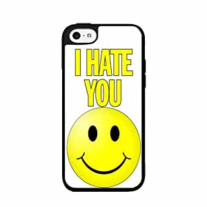 I Hate You With a Smiley Face- TPU RUBBER SILICONE Phone Case Back Cover iPhone 5c