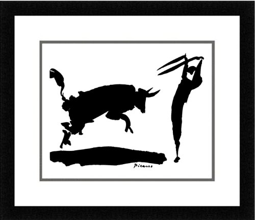 Buyartforless Framed The Bullfight Iii by Pablo Picasso for sale  Delivered anywhere in USA