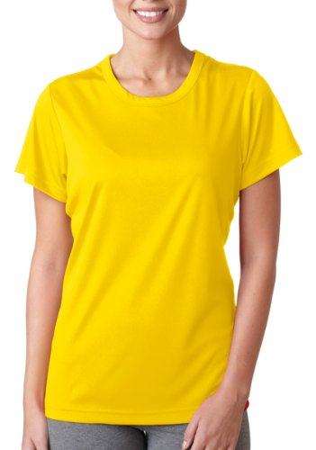 T-shirt Bright Yellow (UltraClub Cool & Dry Sport Performance Interlock Tee (8420L) -BRIGHT YEL -L)