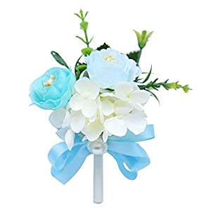Cupcinu Bride and Groom Boutonniere Artificial Flower Brooch Wedding Corsage for The Wedding Party Ribbon Party Prom 10cm14cm 111