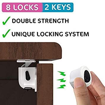 Amazon Com Magnetic Cabinet Locks Child Safety For Baby Proofing
