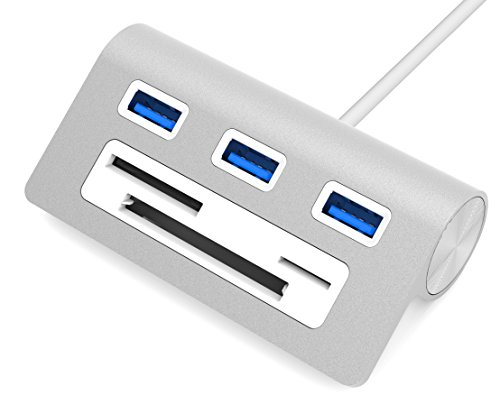 Sabrent Premium 3 Port Aluminum USB 3.0 Hub with Multi-In-1 Card Reader (12
