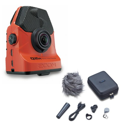 Zoom Q2n Handy Video Recorder with Q2N Accessory Pack (Red) by Zoom
