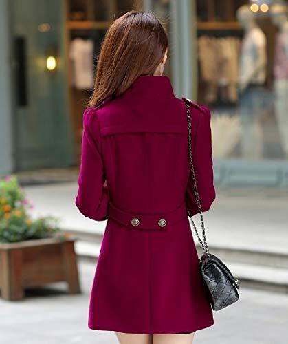 Chaud Trench Outwear Solide Automne Mode Vestes Hiver Pardessus Long Mélange Manteau Blouse Top Casual Coton Col Femmes Ysfu Dames Manteaux YCqqB