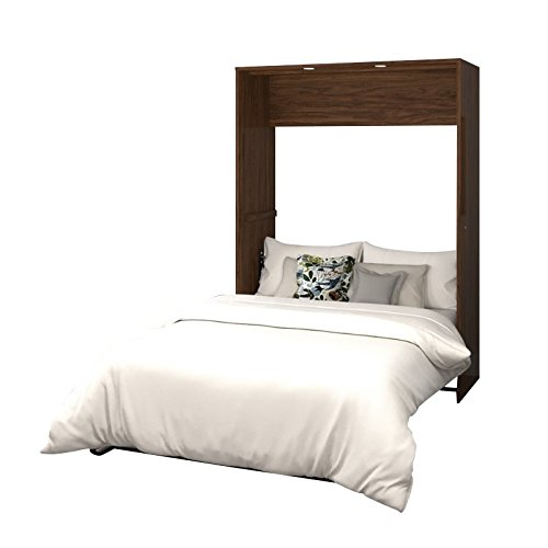 Bestar Cielo by Full Wall Bed White, Oak Barrel