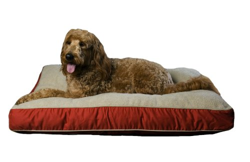 CPC Four Season Ex Large Pet Bed with Cashmere Berber Top, Red (4in Cashmere)