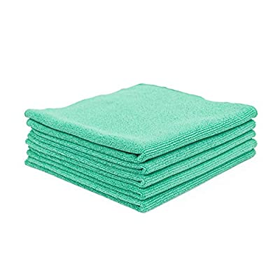 The Rag Company (5-Pack) 16 in. x 16 in. The Pearl Professional Microfiber Ceramic Coating/Sealant/Interior Detailing Towels 320gsm Pearl-Weave (16x16, Green): Automotive