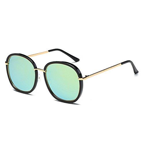 polarizadas C2 gafas TL UV azul Negro sol Gold gafas G410 señoras sol de Green C4 Bastidor Sunglasses espejo de Flor Mujer tonos Mirror gafas de Unidad Cuadrado gv0qg