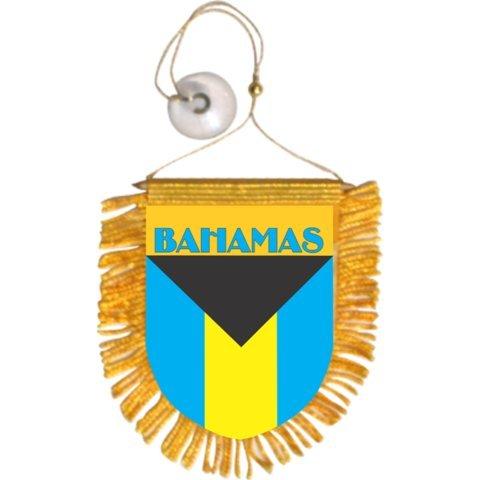 Bahamas Car Auto Mini Banners - 3 Pieces