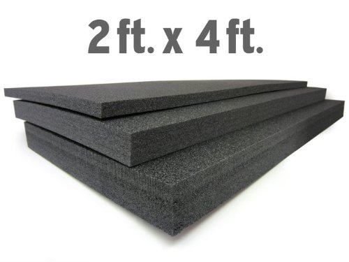 """2"""" Thick Foam Custom Tool Organizers for 5S and Lean (2ft X 4ft) : Black"""