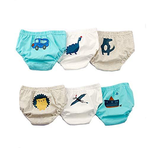 U0U Unisex-Baby Toddler Boy Cute Paints Cotton Underwear Brief (M, Pack 6) by U0U