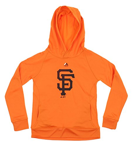 Majestic MLB Youth Boys Team Fleece Performance Hoodie, San Francisco Giants Large (14-16)