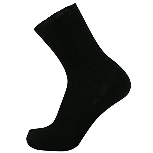 SOK 100% Cotton Socks Men's Black 3-pack Thin - shoe size 9-10