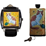 Cat Gift Set, Watch and Key Holder - Yes, Salvador Really Does Paint!