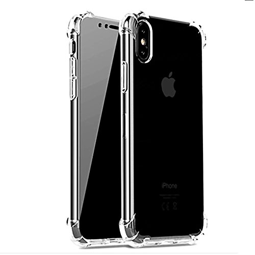 iBarbe Slim Fit iPhone X Case,iPhone 10 Case Crystal Transparent Clear TPU Cover with Corner Drop Protection Excellent Grip Shell Skin for Apple 5.8