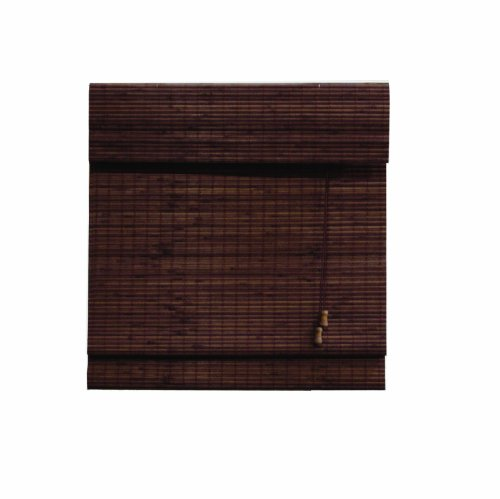 Lewis Hyman 0245824 Radiance Privacy Matchstick Woven Wood Bamboo Window Shade, 71-Inch Wide by 64-Inch Long, Cocoa