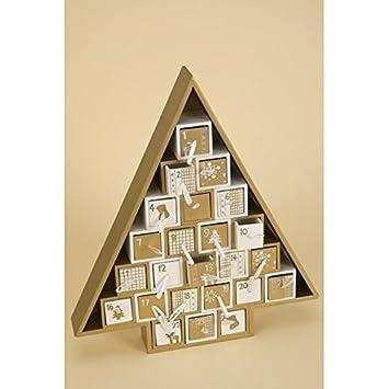 Adventskalender Aus Holz Zum Selbst Befüllen Tanne Weihnachten
