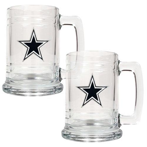 NFL Dallas Cowboys Two Piece 15-Ounce Glass Tankard Set - Primary Logo ()