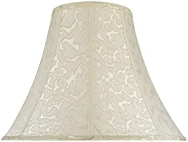 Aspen Creative 30111 Transitional Bell Shape Spider Construction Lamp Shade in Off White, 18 wide 8 x 18 x 14