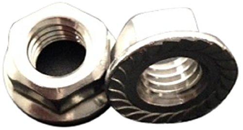 UPC 811287020311, Solar Fastener Expert 317025CSS 18-8 Stainless Steel Serrated Flange Lock Nut, 1/4-20-Inch