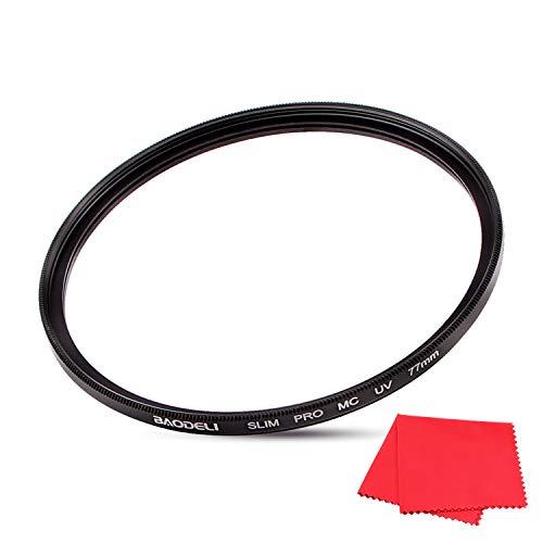 77mm UV Protection Lens Filter for Camera Lenses, Ultra-Slim, MRC16, Multi-Coated Compatible Sony Full Frame FE24-105mm f/4 OSS Standard-Zoom, Sigma 50mm F1.4 DG HSM