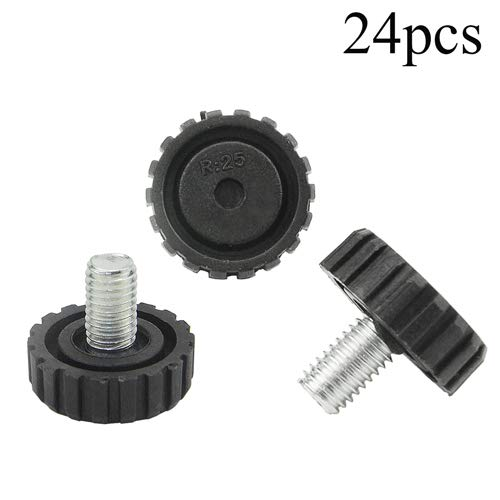 - 24 PCS M8 Screw On Furniture Glide Leveling Foot Adjustable Diameter 1 inch / 25 mm for Furniture Legs